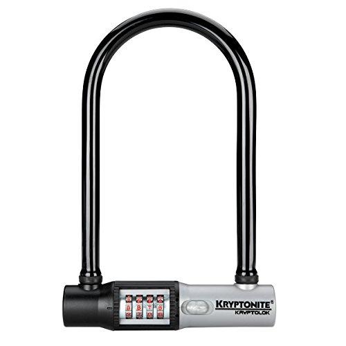 Kryptonite Kryptolok Standard 12mm U-Lock Combo Bicycle Lock with Side Mount Snap-In Bracket
