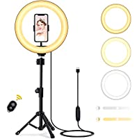 Techvilla 10 Inch LED Ring Light with Tripod Stand & Phone Holder