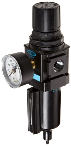 Dixon B18-04MGMB Manual Drain Wilkerson Compact Filter/Regulator with Metal Bowl and Sight Glass, 1/2