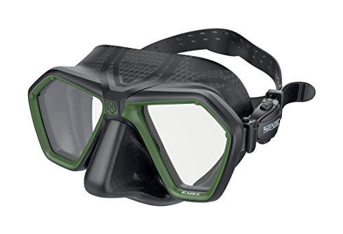 SEAC Eagle Mascara para apnea y Pesca submarina, Unisex-Adult, Negro/Verde, One Size