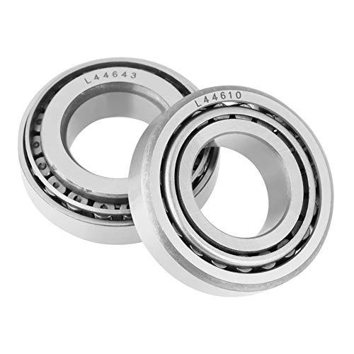 2PCS Rodamiento de Rodillos cónicos de una hilera de Bolas Individuales L44643 diámetro Interior de 25 mm/diámetro Exterior de 50.292 mm/Grosor de 14.22 mm