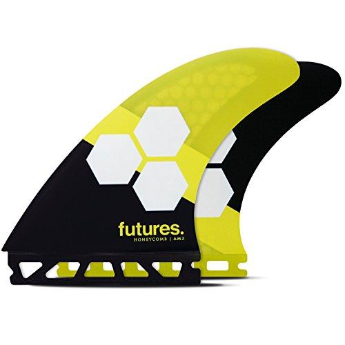 Futures Aletas - AM2 HC HC, color amarillo/negro