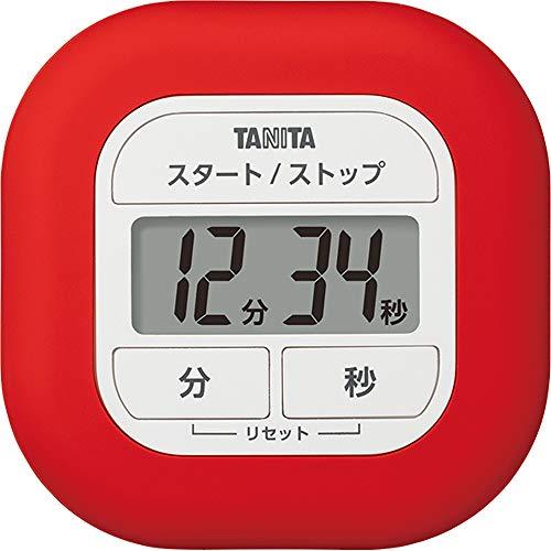 タニタ キッチン タイマー マグネット付き くるっとシリコーンタイマー レッド TD-420 RD きれいにラップがつけられる