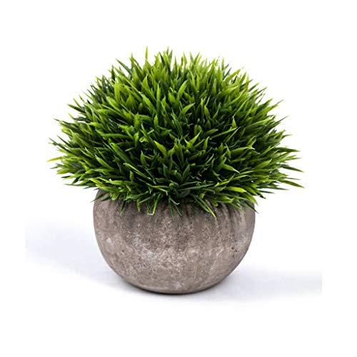 ZHAS Künstliche Kunststoffpflanzen Topfpflanzen Grün Und Lila Pflanzen Strauch Gefälschte Pflanzen Mini Decor Bloom Times Künstliche Kunstgrün für Hausdekorationen, Grün