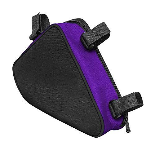 Bolsa triangular para bicicleta de 1,5 l, bolsa de triángulo para bicicleta, tubo frontal, impermeable, para bicicleta de montaña o BMX.