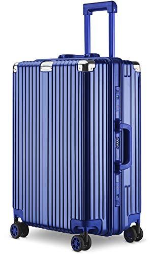 【Amazon限定ブランド】スーツケース アルミニウムマグネシウムフレーム 機内持ち込みスーツケース キャリーバッグ 静音キャスター 360°自由回転 旅行用4010 (ブルー, S)