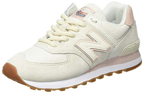 New Balance Womens WL574SAY_40 Sneakers, Turtledove/Smoked Salt, 38.5 EU