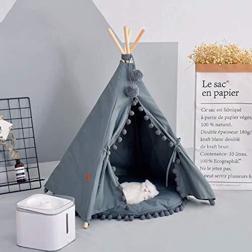 little dove Hunde Tipi Zelt Hause und Zelt mit Spitze für Hund oder Haustier, abnehmbar und waschbar mit Matratze(L)