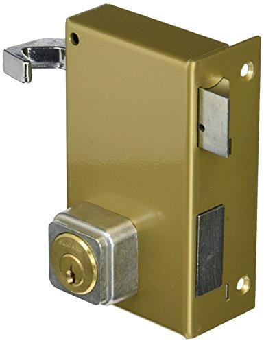 bricard 1837cerradura de sobreponer vertical tirada 5pasadores Reversible tirante/poussant 80x 120Dore derecha), color dorado