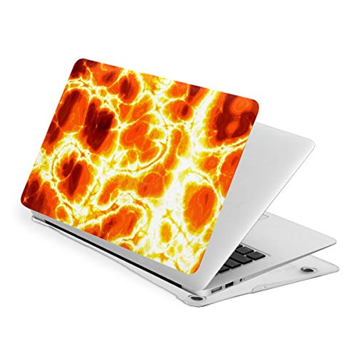 Hot Burning Lava Texture MacBook Air 13 Inch Case Slim Fits with A1466 A1369 Hard Shell Protective Cover Compatible with Apple Mac Air 13