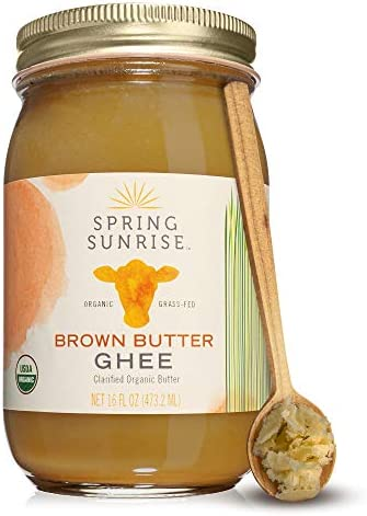 Spring Sunrise Brown Butter Ghee Grass Fed Butter Ghee Butter Organic Grass Fed Ghee Clarified product image