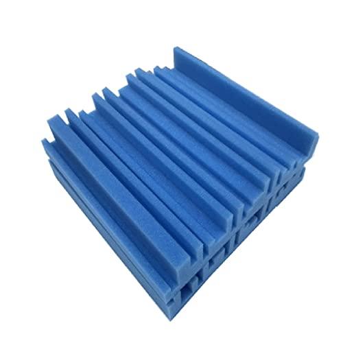 SMEJS 10 unids 250x250x50mm de Estudio Paneles de Espuma acústica de Sonido Absorbente de Sonido KTV Absorción de Ruido Azulejos de Espuma Cuña A Prueba de Sonido Paneles de Pared (Color : B)