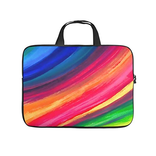 Tie Dye Colourful Rainbow Laptop Bag Shockproof Laptop Case Funny Notebook Bag for University Work Business