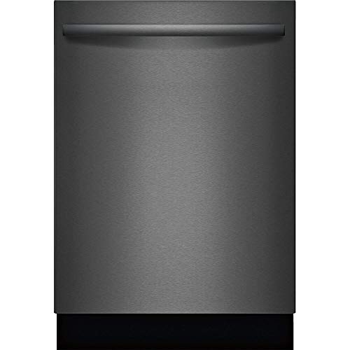 Bosch SHXM78Z54N 24' 800 Series Fully Integrated Bar Handle Dishwasher with 16 Place Settings, Flexible 3rd Rack, InfoLight and CrystalDry in Black Stainless Steel