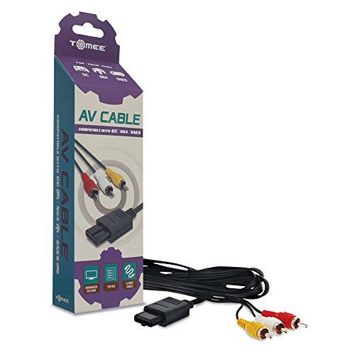 Tomee: AV Cable para video consola Nintendo Gamecube, Nintendo 64 N64, Super Nintendo SNES