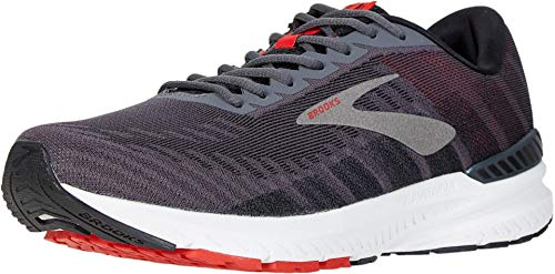 Brooks Men's Ravenna 10, Dark Grey/Red, 8.5 D