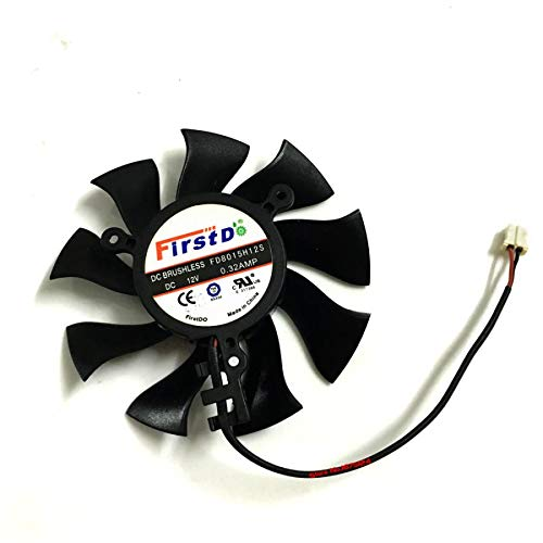 Miwaimao Graphics Card Cooling Fan VGA Cooler FD8015H12S 75mm 12V 0.32A 2Wire 2Pin for Sapphire HD4860 HD4890 HD5770 HD5870 HD6770 HD6790