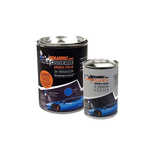 Foliatec F20995 Carbody Spray Film (Sprühfolie) Versiegler-klar glänzend-2x Sealer + 1x 1L Härter