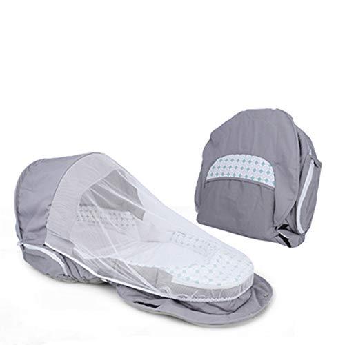 QuRRong Berceau Portable 3-1 Portables Sacs Momie Avancés Table À Langer Tour Novice Maman Et Papa (Gris) Nest Baby Sleeping Portable (Couleur : Gris, Size : One Size)