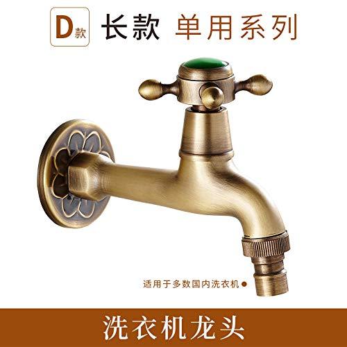WANDOM Alle Kupfer Küche antiken einzigen kalten Mopp Pool Waschmaschine gewidmet Wasserhahn verlängert schnell in die Wand Auslauf Retro-D lange Wäsche öffnen