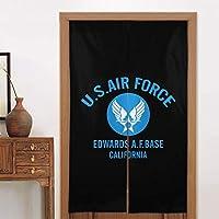 のれん 目隠し Curtain ロング 暖簾 和風のれん アーミーエアフォース U.S. Army Air Force おしゃれ 間仕切りカーテン 遮光のれん シェードカーテン つっぱりカーテン 出入り口 キッチン 玄関のれん 断熱防寒 86 X 143cm 飾り物 洋室 和室 部屋飾り