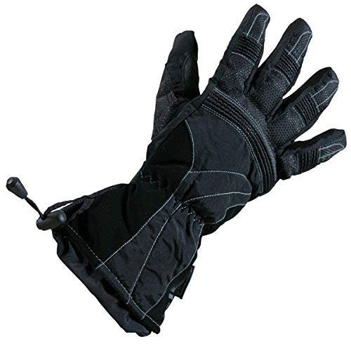Richa Probe - Guantes térmicos para motocicleta, material impermeable Hipora, color negro