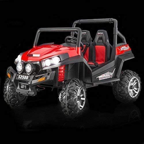 RIRICAR Kinderauto Elektro, NEU RSX Buggy, Rot, 2 Sitzer, mit 2,4-GHz Fernbedienung, 36 Monate - 8 Jahre, 2x12 V Batterie