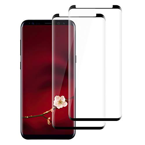 [2 Stück] Schutzfolie Glasfolie kompatibel mit Samsung Galaxy S9, 3D Gebogen, 9H Härte, Anti-Kratzer/Fingerabdruck/Staub/Öl, HD Klar Panzerglasfolie Displayschutzfolie kompatibel mit Galaxy S9