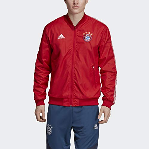 adidas 2019-20 FC Bayern Anthem Jacket - Red M