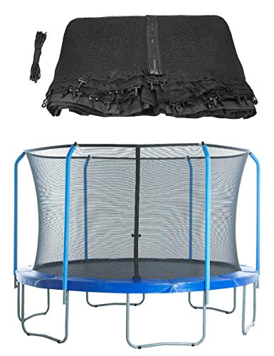 Upper Bounce Replacement Safety Enclosure Net, Fits 15  Round Trampoline Using 6 Curved Poles with Top Ring Frame