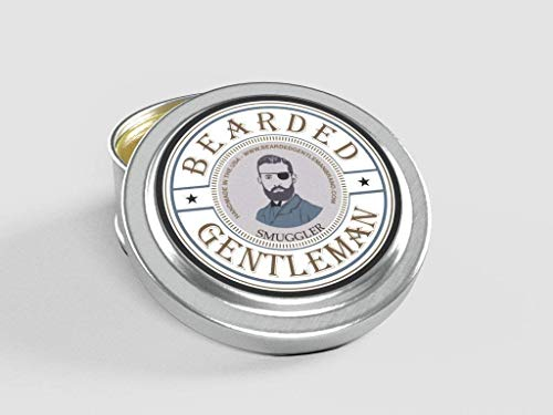 Bearded Gentleman Smuggler Men's Solid Cologne - Clove, Pepper, Nutmeg, and Vanilla - 1/2 oz - Natural Ingredients - Travel Sized Tin - Best Smelling Scent - Perfect Gift - Limited Batch Handmade