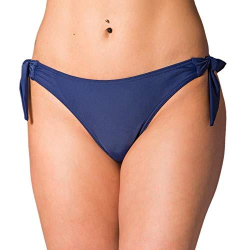 Aquarti Slip Bikini Brasiliano da Donna, Blu Scuro, 46