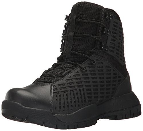 Under Armour Women's Stryker Military and Tactical Boot, Black (001)/Black, 10