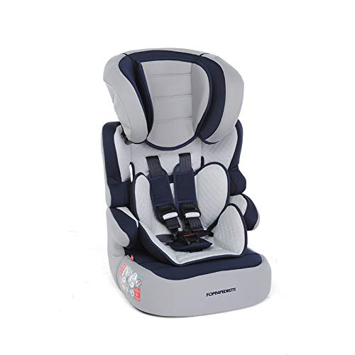 Foppapedretti Babyroad - Seggiolino Auto, Gruppo 1-2-3 (9-36 Kg) per Bambini da 9 Mesi a 12 Anni Circa, Blu (Ocean)