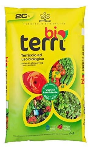 SUELO ORGÁNICO Suelo orgánico para verduras aromáticas Flores Jardines saco de 70 litros