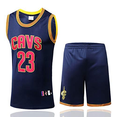 SHR-GCHAO Camiseta De Baloncesto para Hombres - Equipo De Cavaliers De La NBA Cavs # 23 Edición del Fan, Amantes De Los Basketes Sueltos, Transpirables, Sin Mangas,S(165/170cm)