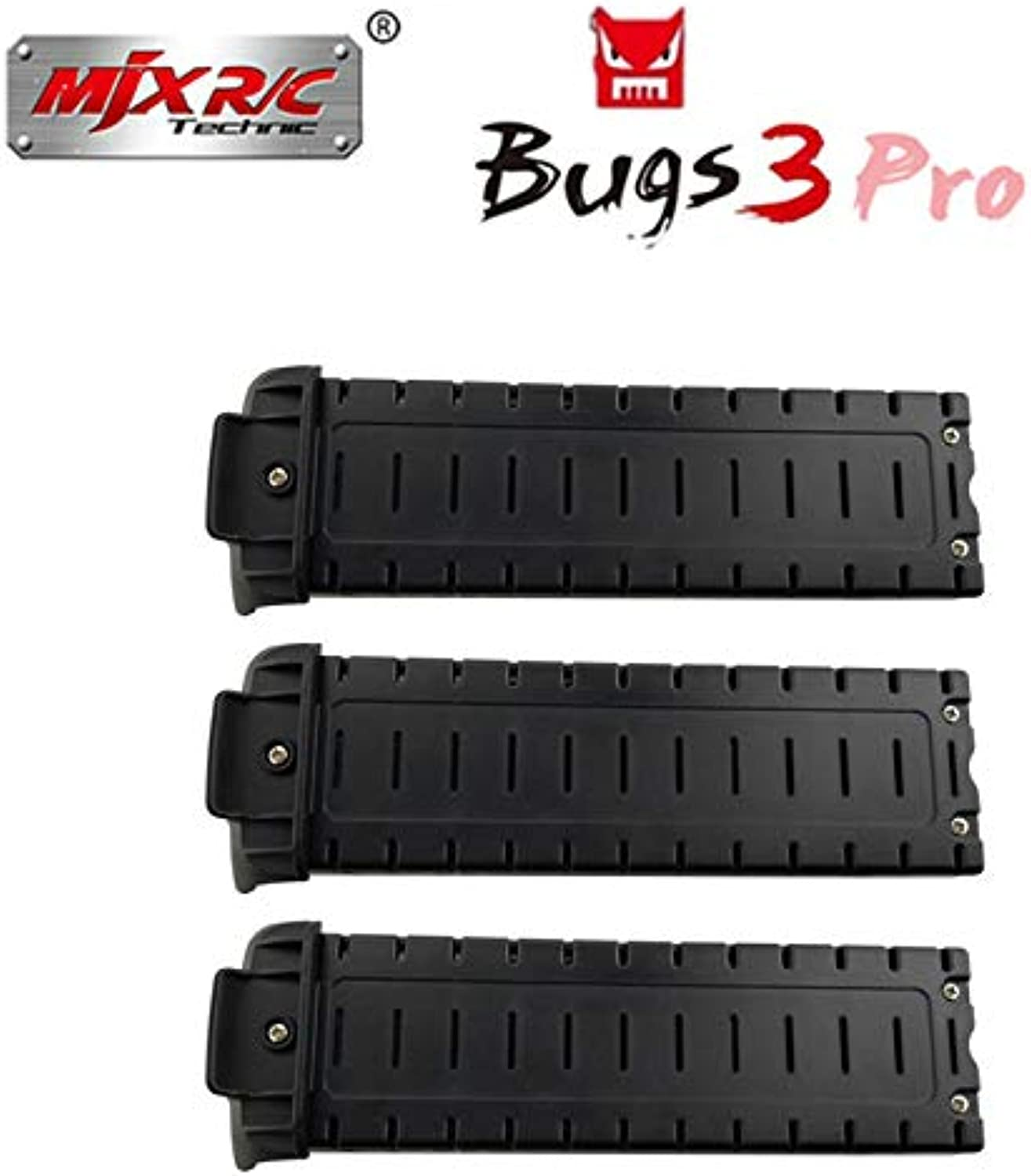 Rabusion 7.4V 2800mah Battery for MJX Bugs 3 PRO B3PRO Brushless Fouraxis Aircraft Accessories Remote Control Drone Lithium Battery 3pcs