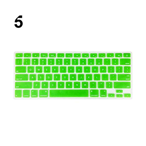 Keyboard Soft Case for MacBook Air Pro 13/15/17 inches Cover Protector Keyboard Cover Stickers for Laptop -Green-