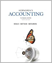 Horngren's Accounting, The Financial Chapters (10th Edition)