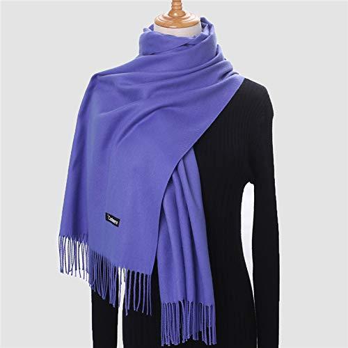 Bufanda Mujer,Bufanda Cálida De Invierno para Mujer, Gruesa, Azul Eléctrico, Color Sólido,...