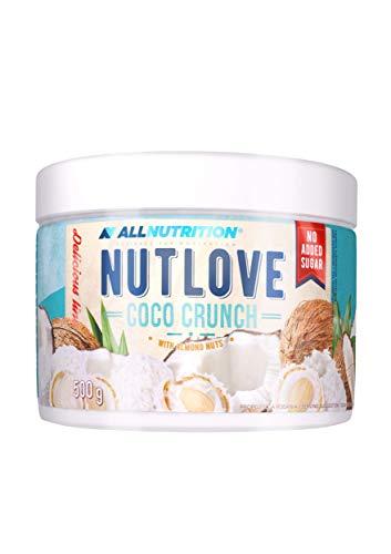 ALLNUTRITION NUTLOVE 500 g CRUNCH 1er pack, Mandel-Kokos-Creme, ohne Zucker, kein Palmfett | Protein Creme zuckerfrei Kohlenhydrate 100% Geschmack