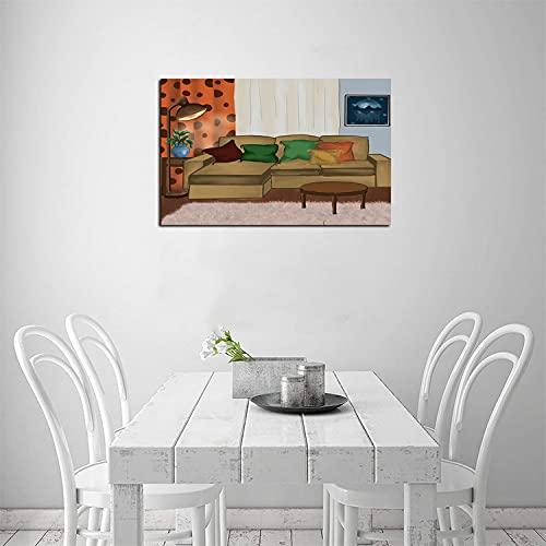 ZHOUHAOMAOYI Lienzo interior para sala de estar, sofá, decoración de pared, diseño de imagen de calidad para pared, 30 x 20 cm