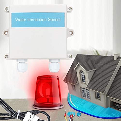 Leftwei Praktischer praktischer Wasserdetektor, Wechselstromimpedanzmessung Wasserleckalarm, für Hotelgeräte Schränke Bibliotheken Lager Computerraum Restaurant