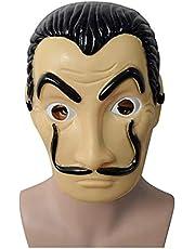 La Casa De Papel Mask Salvador Dali Plastic Face Funny Mask Costumes Cosplay Masque Mascara Dali Mask Money Heist