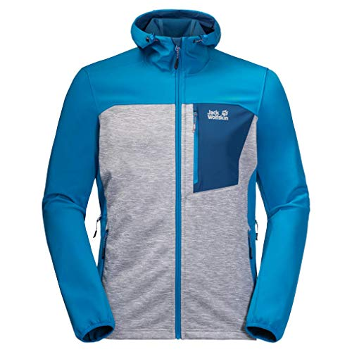 Jack Wolfskin Unisex Sky Peak Softshell Jacke Damen Softshell Jacke XL Blauer Pazifik