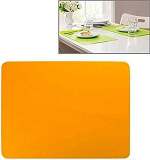 シンプルライフ、ライフアシスタント 食品皿/飲料/オーブン/子供のテーブルのための高品質40 x 30 cm滑り止めシリコーン断熱マット(オレンジ) (色 : オレンジ)