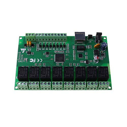 PTMD Interfaz Ethernet RJ45 de doble control Ethernet de relé de red de relé IP de 8 canales
