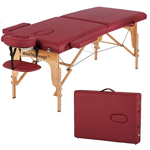 ADHW Best Massage PU Portable Massage Table w/Free Carry Case