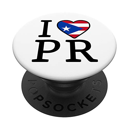 I Love Puerto Rico Boricua Flag Puerto Rican Pride I Love PR PopSockets Grip and Stand for Phones and Tablets