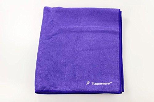 TUPPERWARE FaserPro Sporthandtuch blau/lila Mikrofasertuch Handtuch Tuch